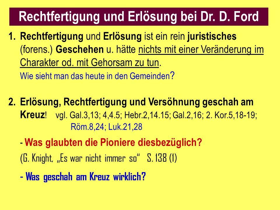 Rechtfertigung und Erlösung bei Dr. D. Ford