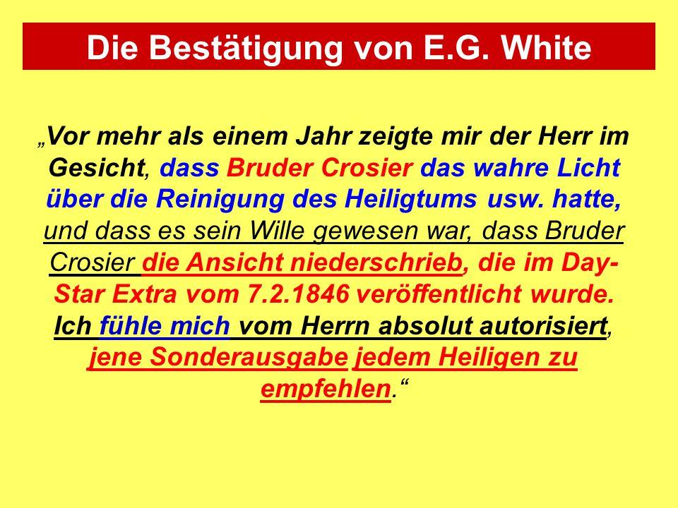 Die Bestätigung von E.G. White