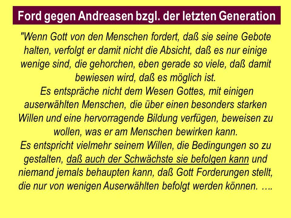 Ford gegen Andreasen bzgl. der letzten Generation