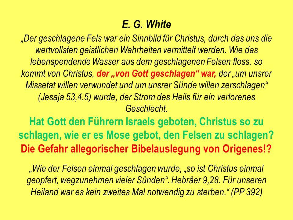 Die Gefahr allegorischer Bibelauslegung von Origenes!
