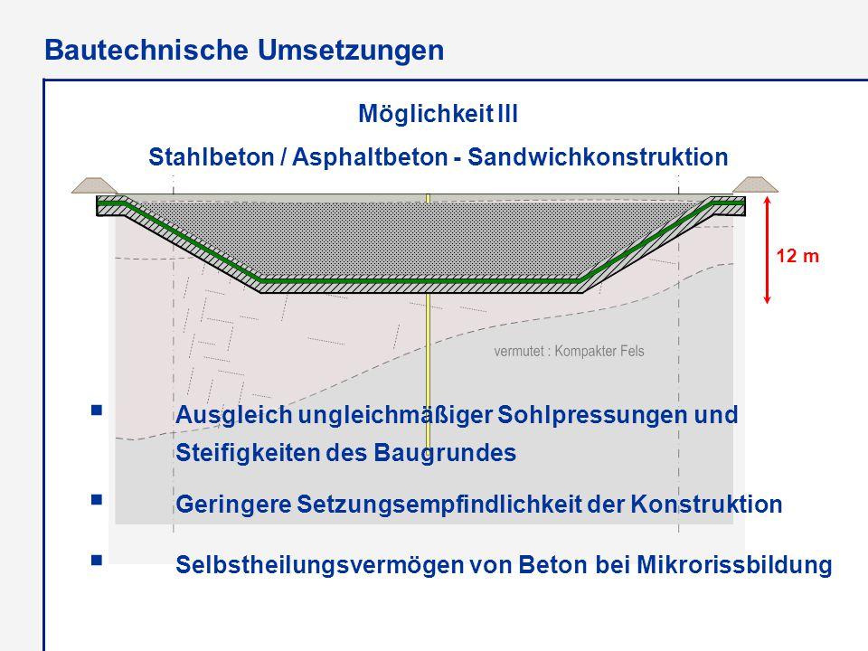 Multibarrierensystem Stahlbeton / Asphaltbeton - Sandwichkonstruktion