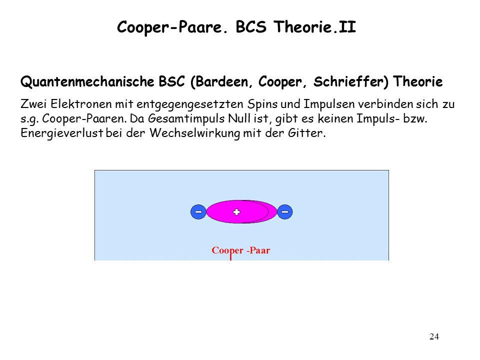 Cooper-Paare. BCS Theorie.II