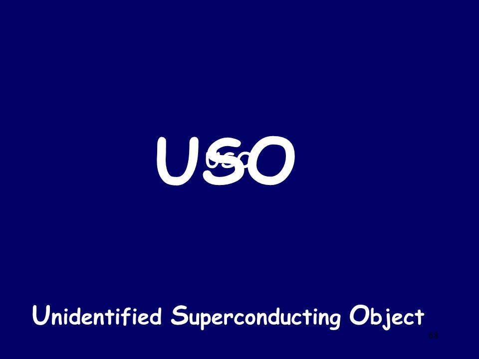 USO USO Unidentified Superconducting Object