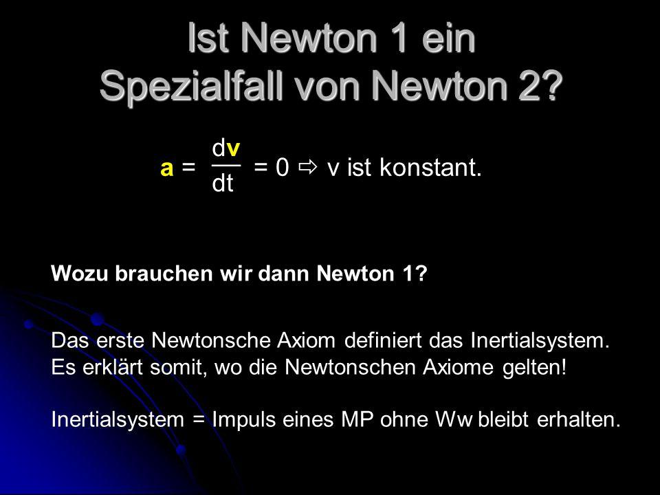 Ist Newton 1 ein Spezialfall von Newton 2