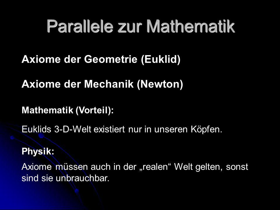Parallele zur Mathematik