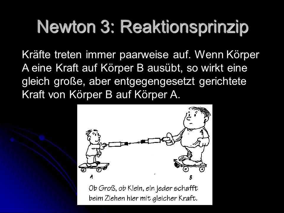 Newton 3: Reaktionsprinzip