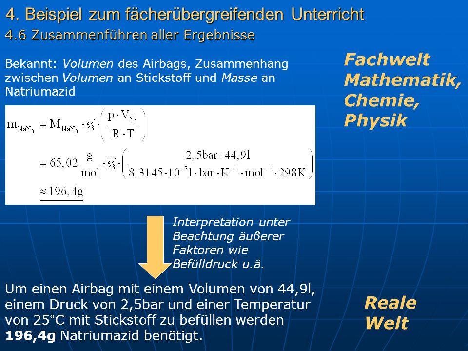 4. Beispiel zum fächerübergreifenden Unterricht