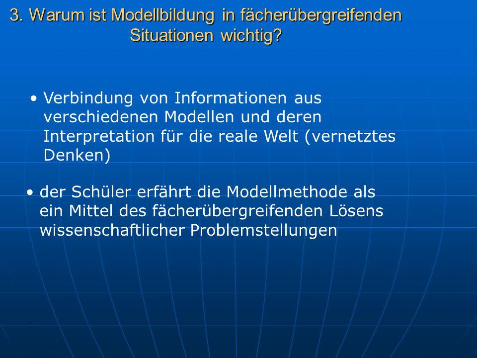 3. Warum ist Modellbildung in fächerübergreifenden Situationen wichtig