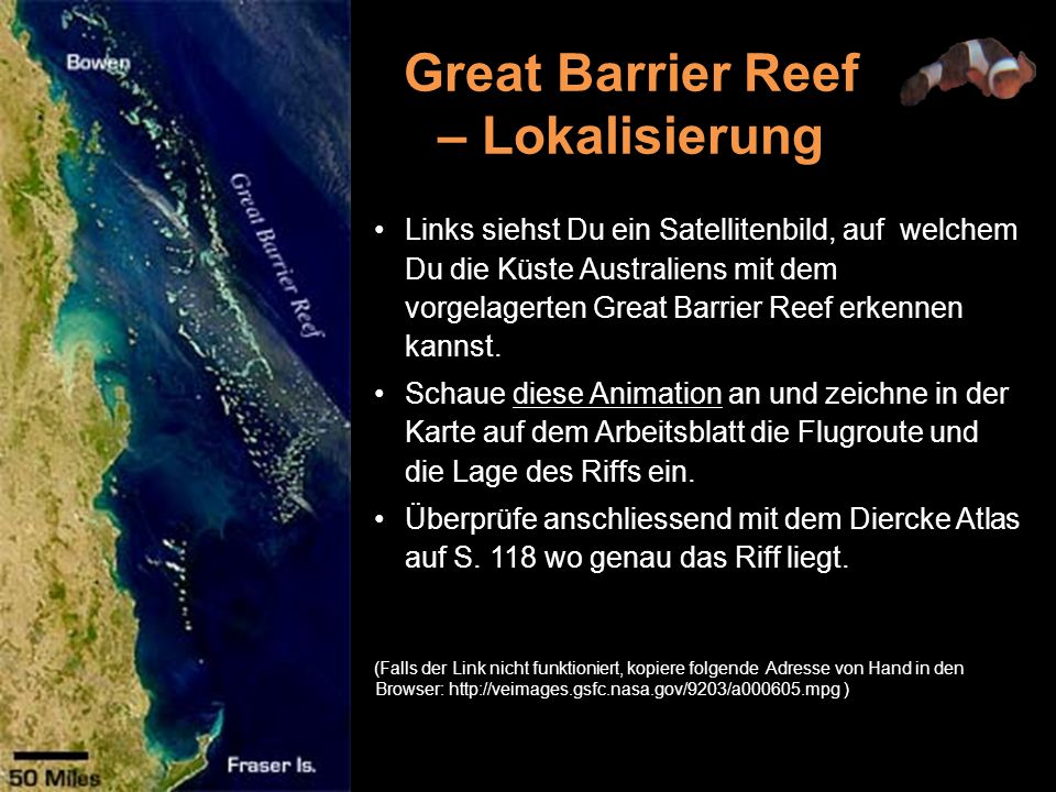 Great Barrier Reef – Lokalisierung