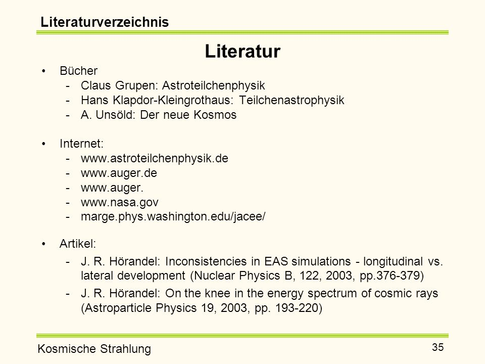 Literatur Literaturverzeichnis Bücher