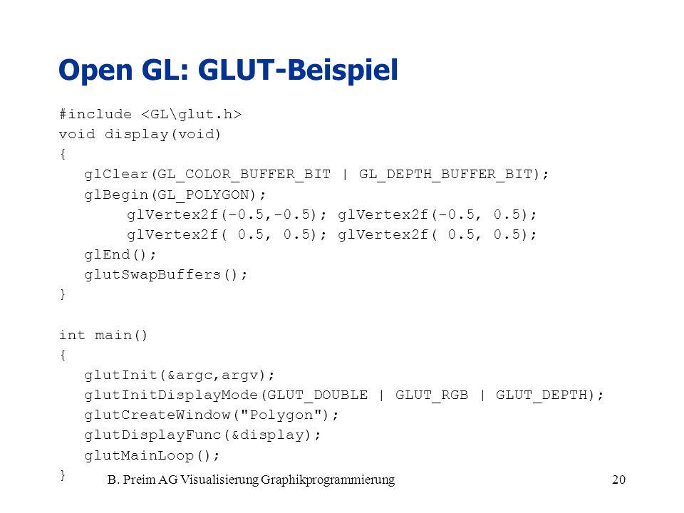 Open GL: GLUT-Beispiel