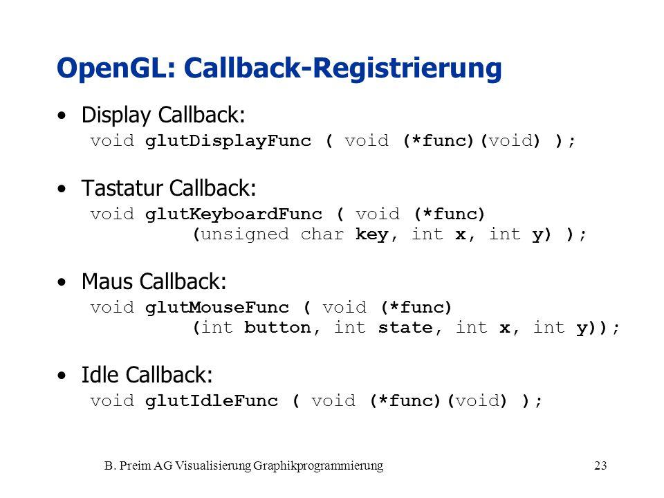 OpenGL: Callback-Registrierung