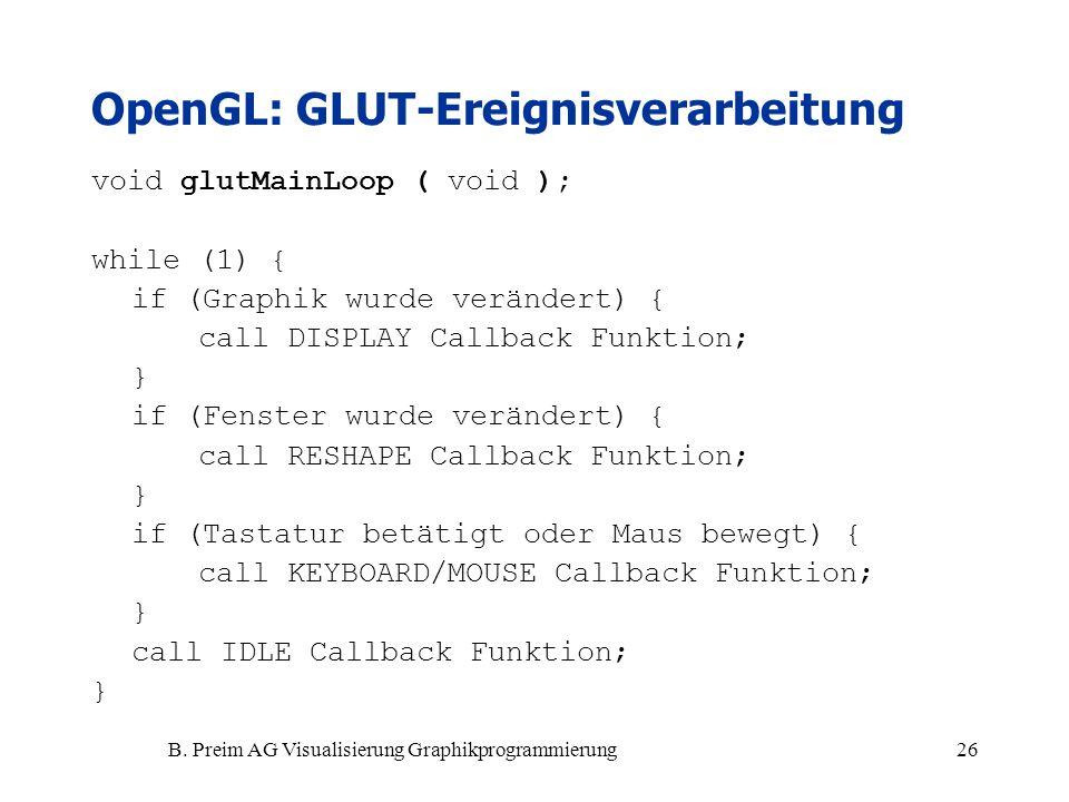 OpenGL: GLUT-Ereignisverarbeitung