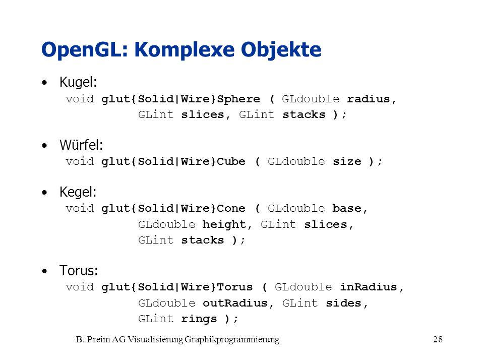 OpenGL: Komplexe Objekte