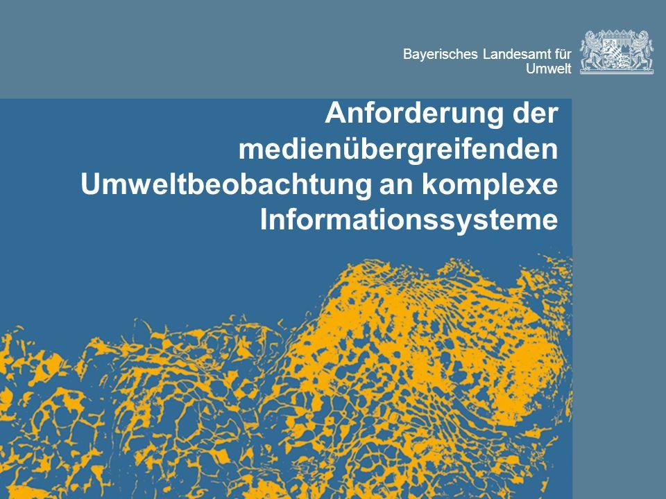 Anforderung der medienübergreifenden Umweltbeobachtung an komplexe Informationssysteme