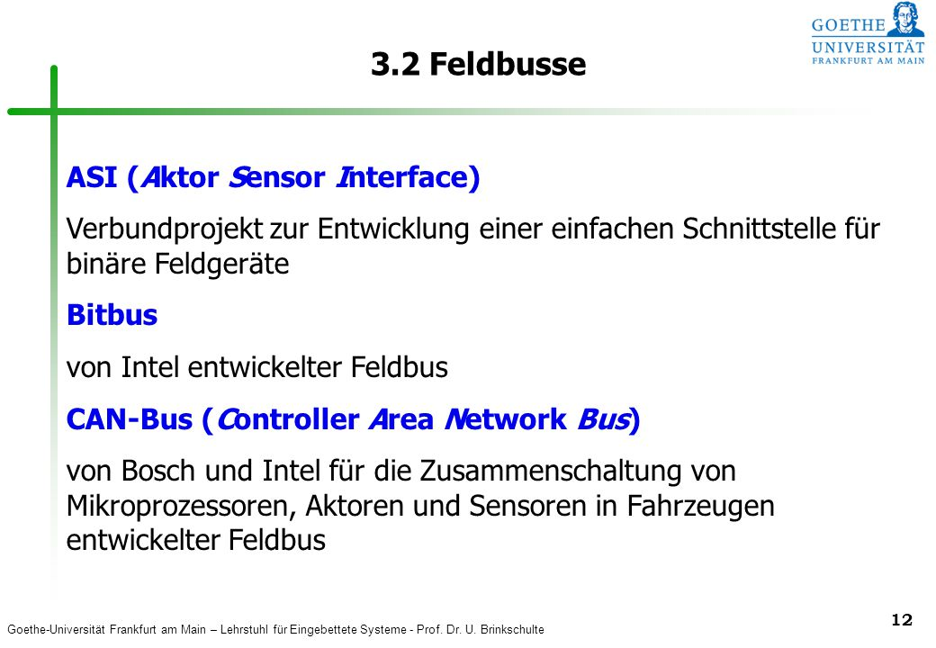 3.2 Feldbusse ASI (Aktor Sensor Interface)
