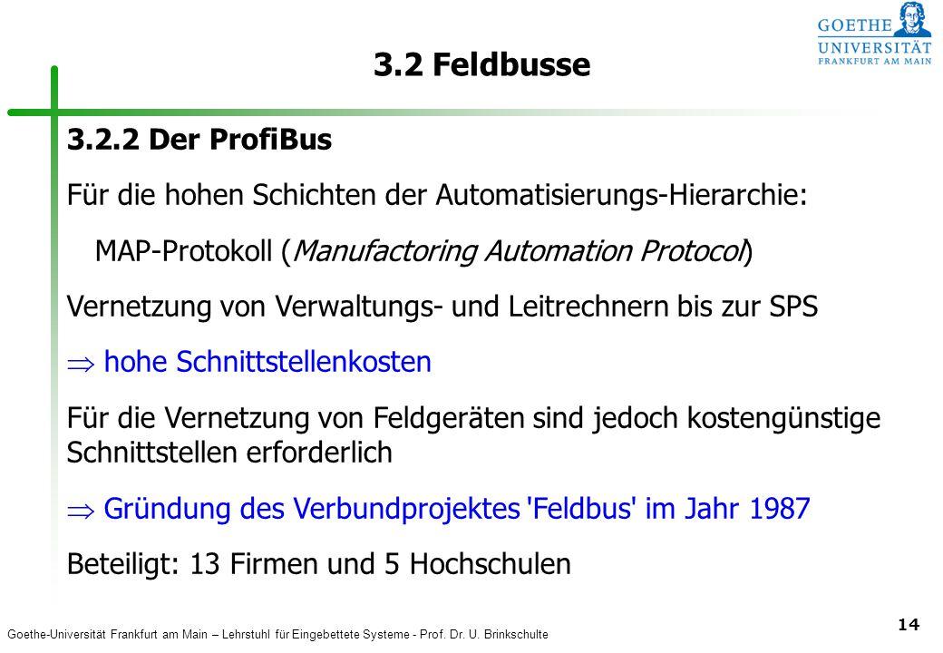 3.2 Feldbusse 3.2.2 Der ProfiBus