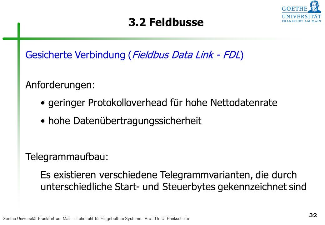 3.2 Feldbusse Gesicherte Verbindung (Fieldbus Data Link - FDL)