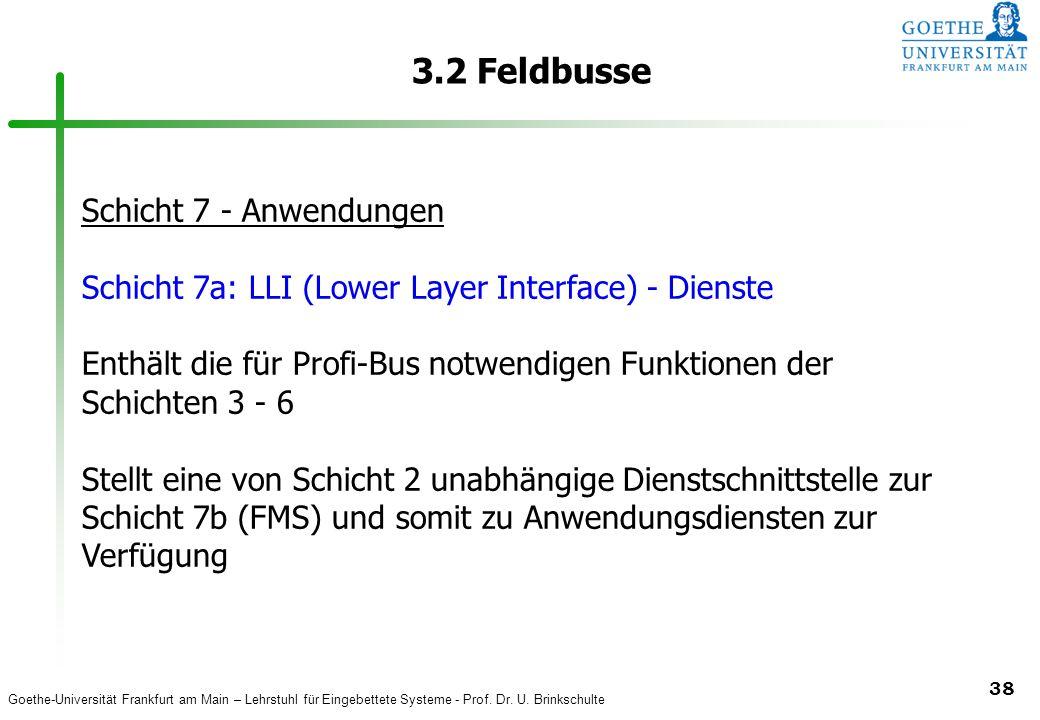 3.2 Feldbusse Schicht 7 - Anwendungen