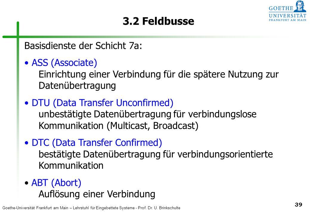 3.2 Feldbusse Basisdienste der Schicht 7a: ASS (Associate)