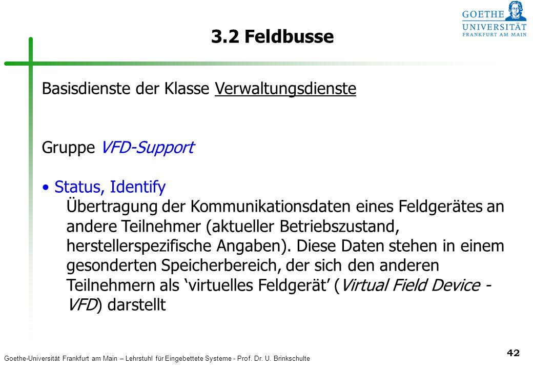 3.2 Feldbusse Basisdienste der Klasse Verwaltungsdienste