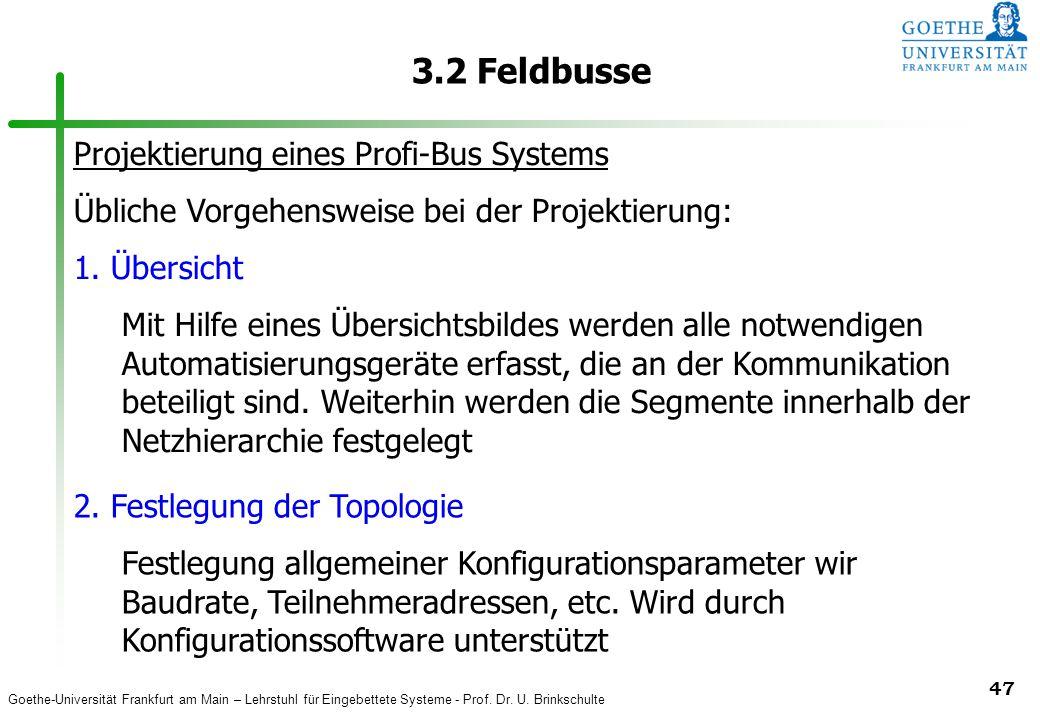 3.2 Feldbusse Projektierung eines Profi-Bus Systems