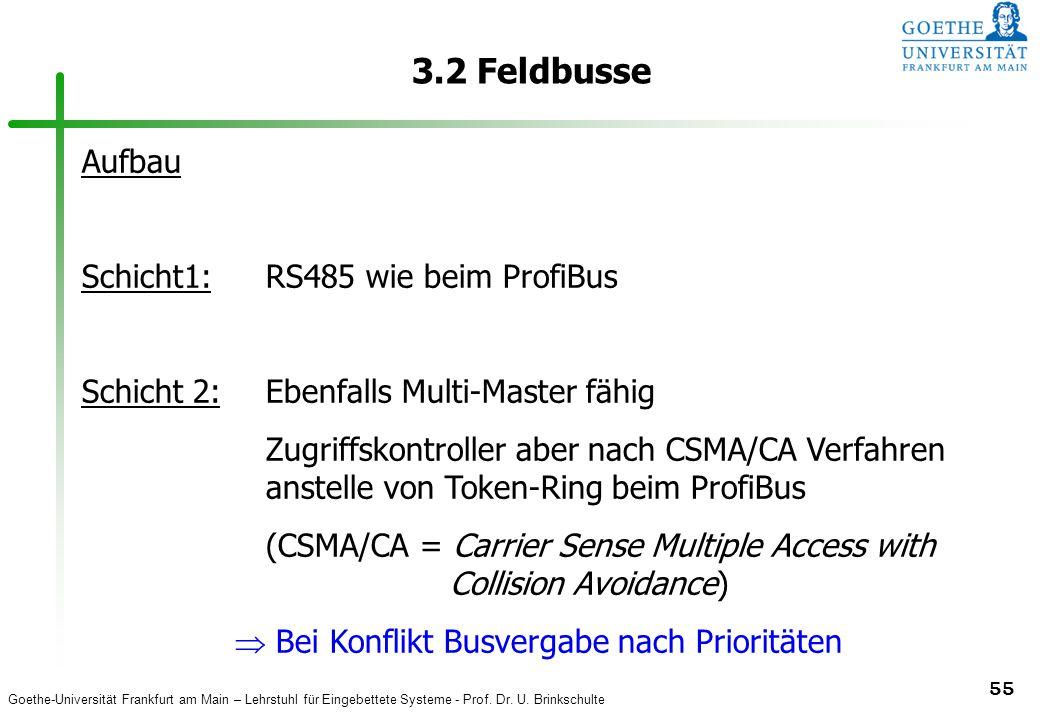 3.2 Feldbusse Aufbau Schicht1: RS485 wie beim ProfiBus
