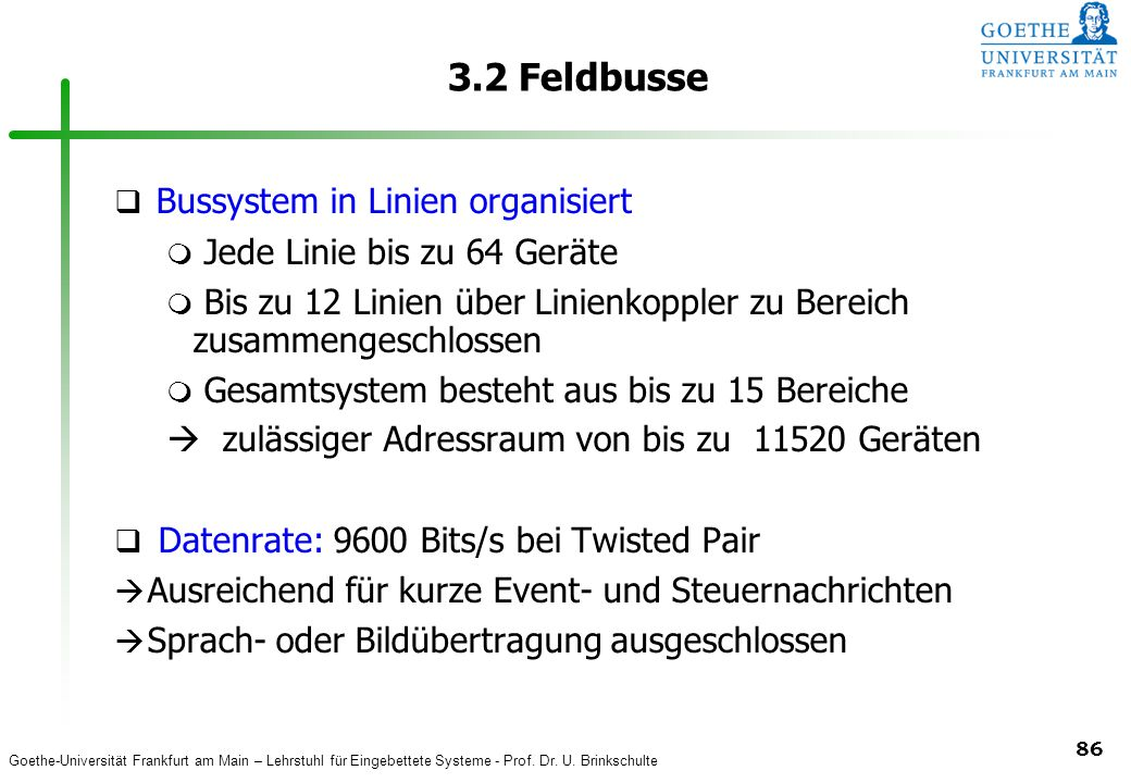 3.2 Feldbusse Bussystem in Linien organisiert