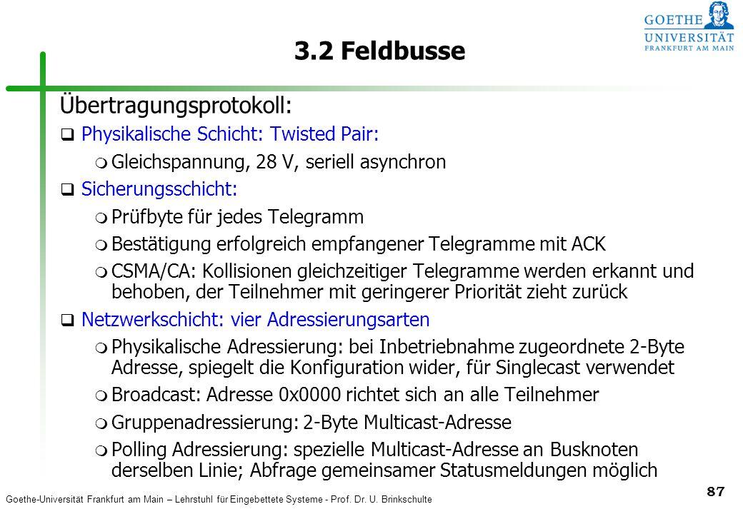 3.2 Feldbusse Übertragungsprotokoll: