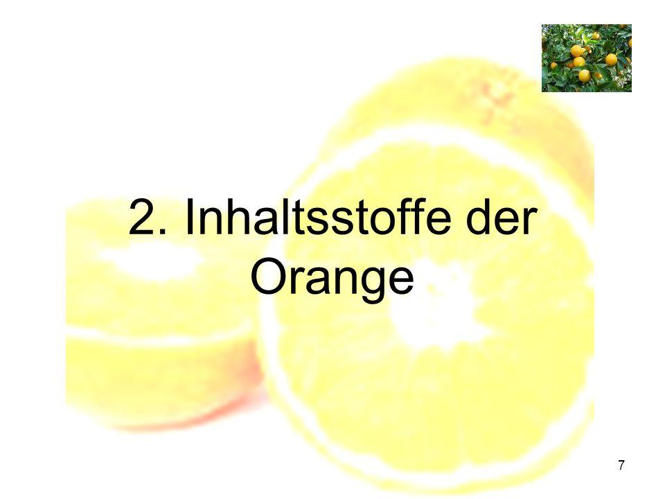 2. Inhaltsstoffe der Orange