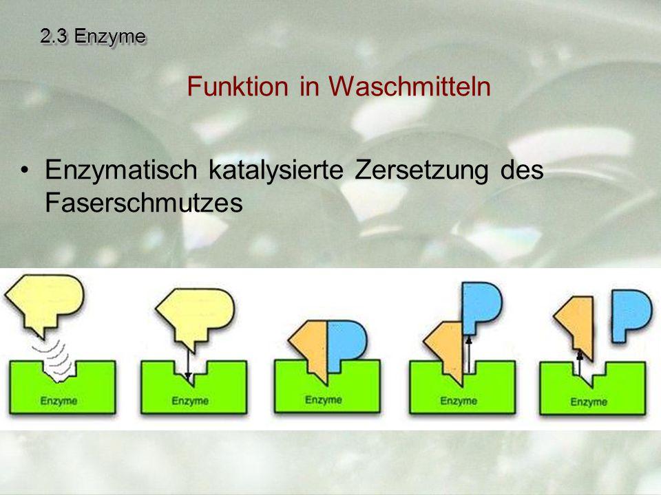 Funktion in Waschmitteln