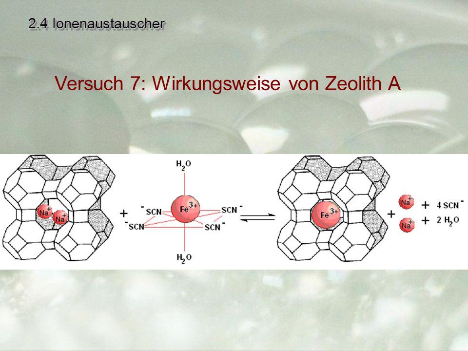 Versuch 7: Wirkungsweise von Zeolith A