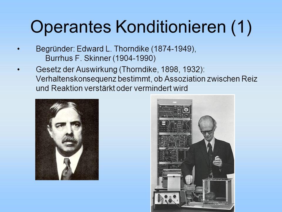 Operantes Konditionieren (1)