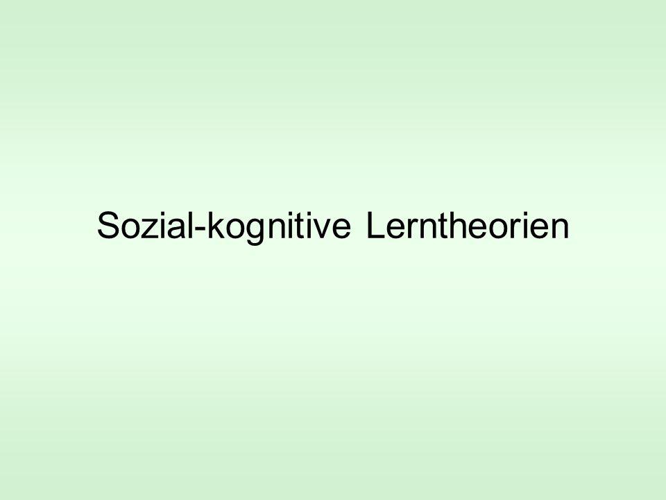 Sozial-kognitive Lerntheorien