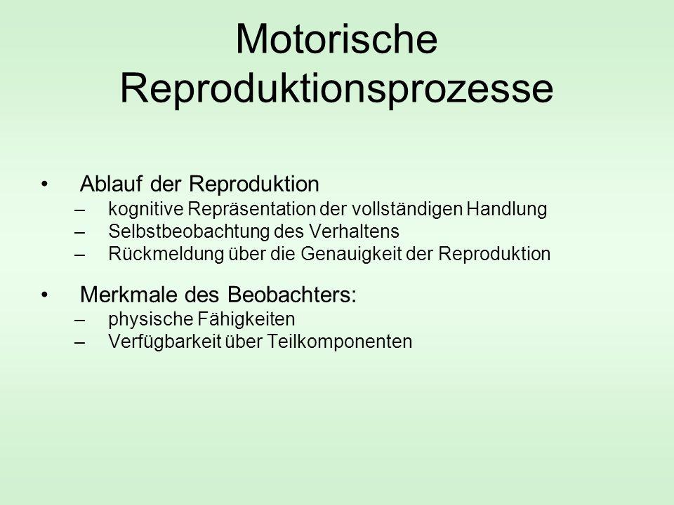 Motorische Reproduktionsprozesse