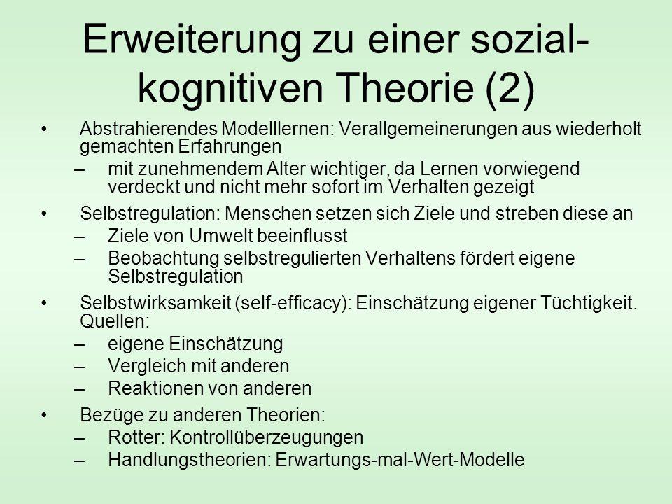 Erweiterung zu einer sozial-kognitiven Theorie (2)
