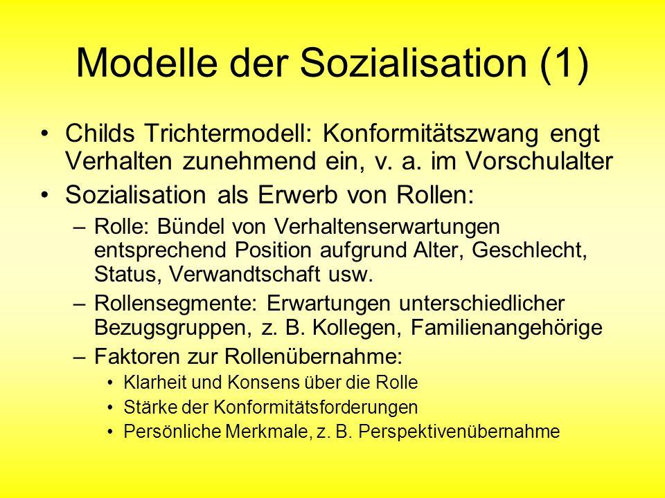 Modelle der Sozialisation (1)