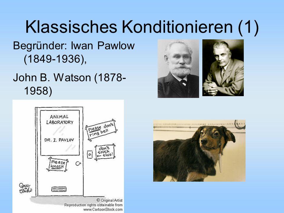Klassisches Konditionieren (1)