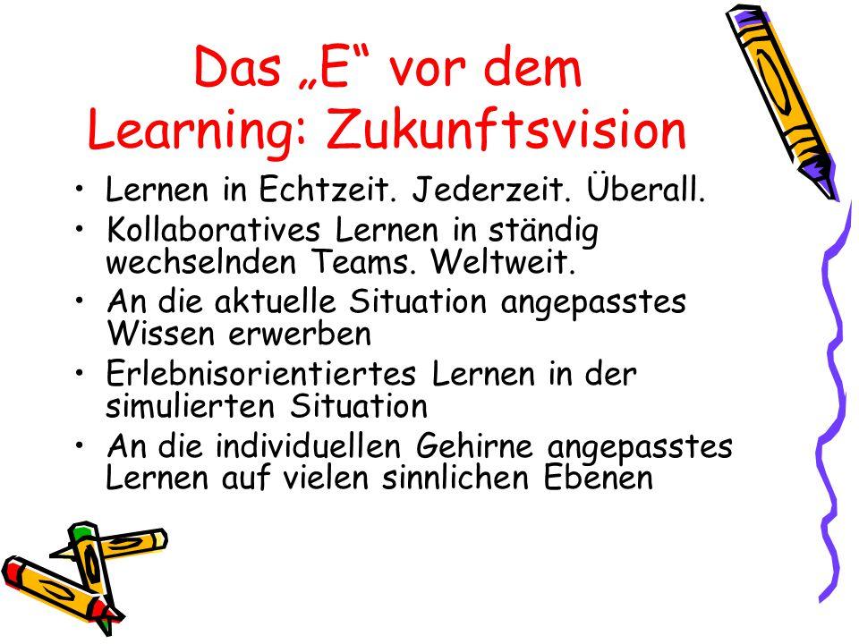 """Das """"E vor dem Learning: Zukunftsvision"""