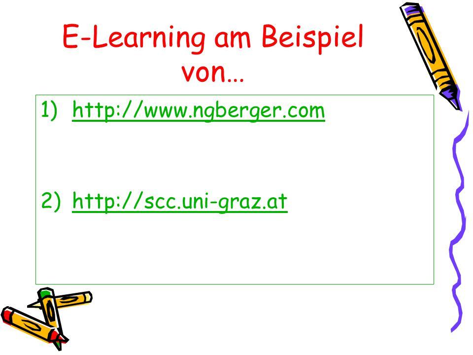 E-Learning am Beispiel von…