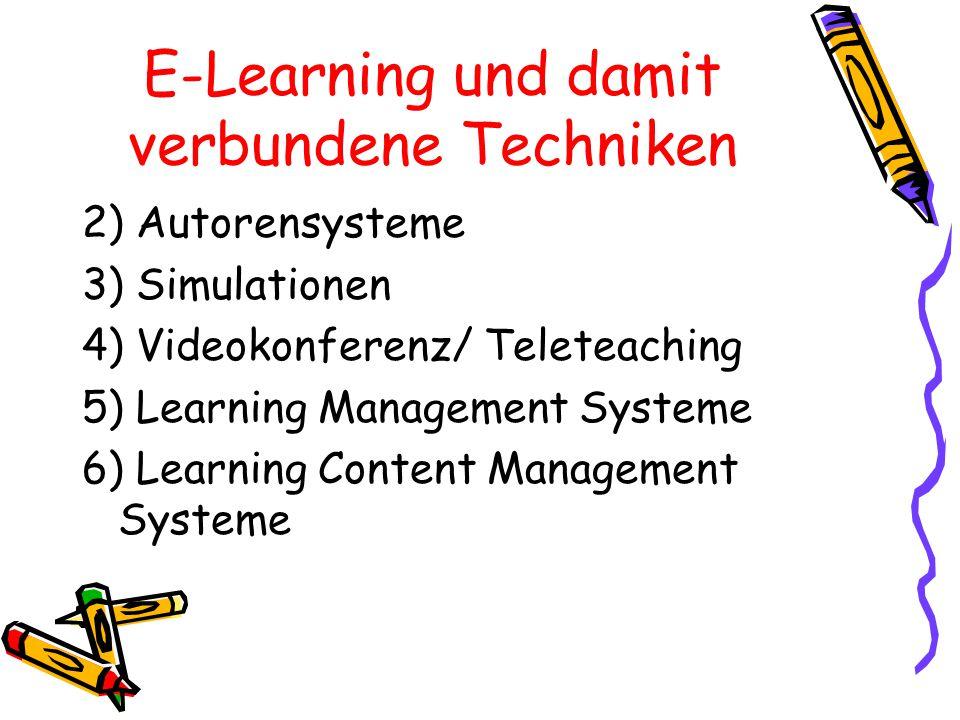 E-Learning und damit verbundene Techniken