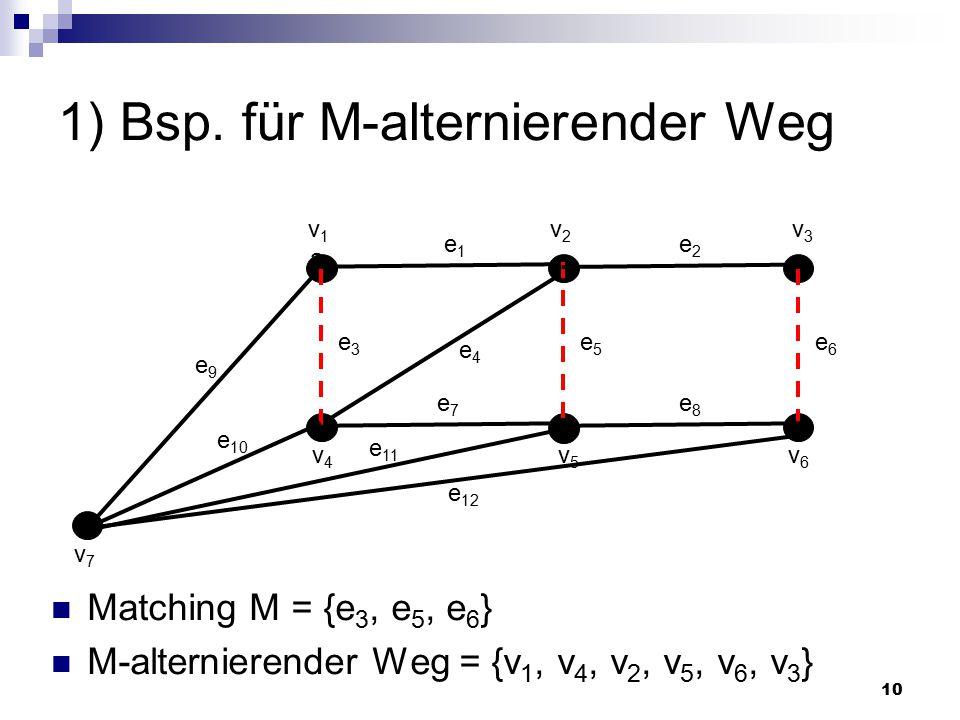 1) Bsp. für M-alternierender Weg