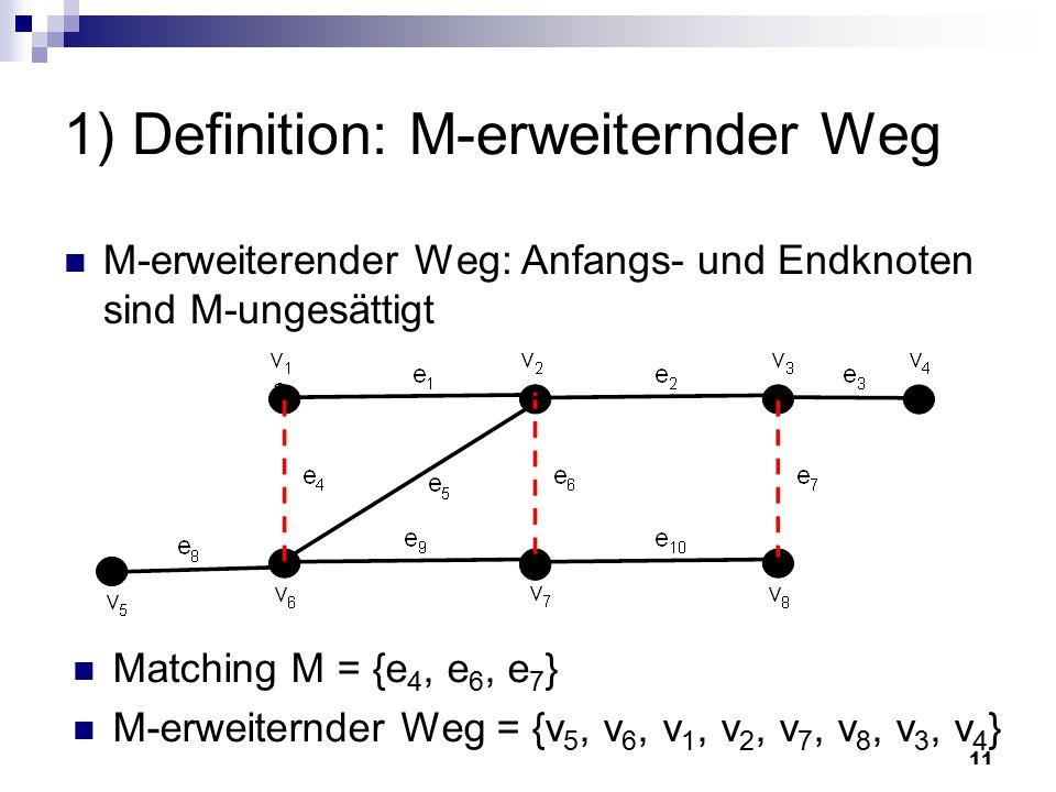 1) Definition: M-erweiternder Weg