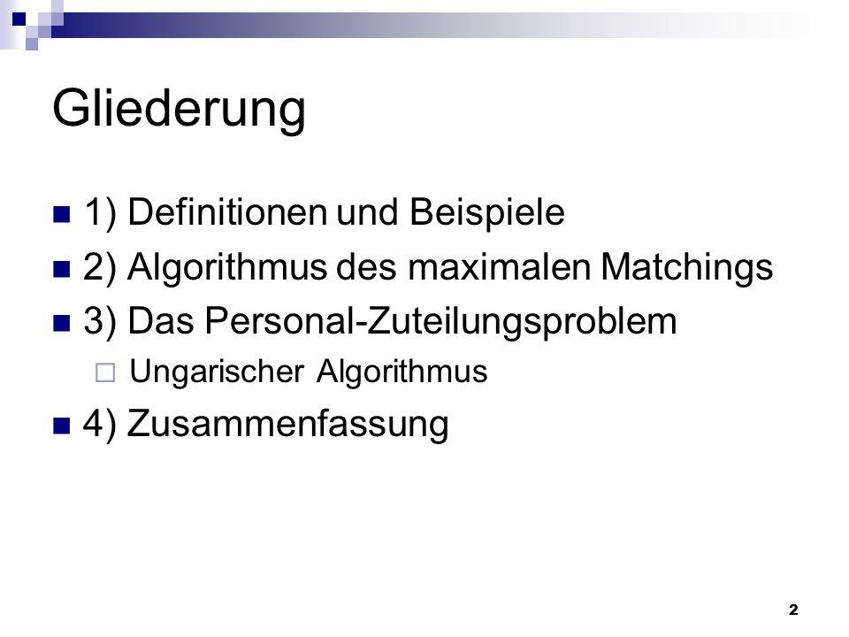 Gliederung 1) Definitionen und Beispiele