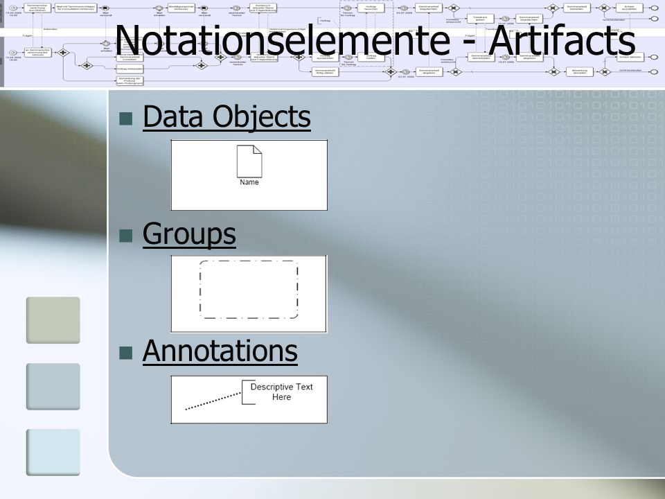 Notationselemente - Artifacts