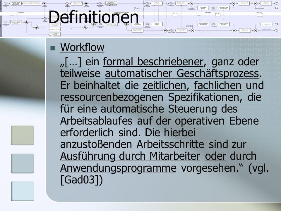 Definitionen Workflow