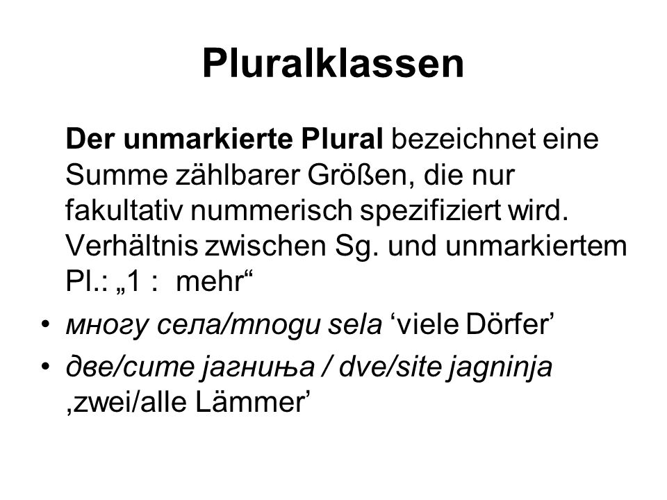 Pluralklassen