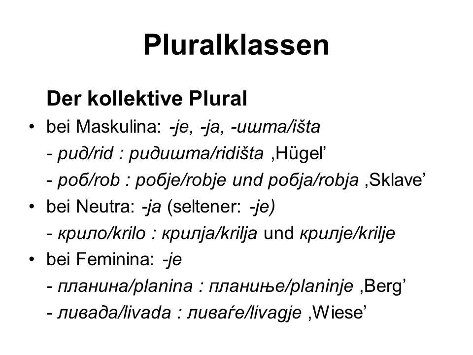 Pluralklassen Der kollektive Plural