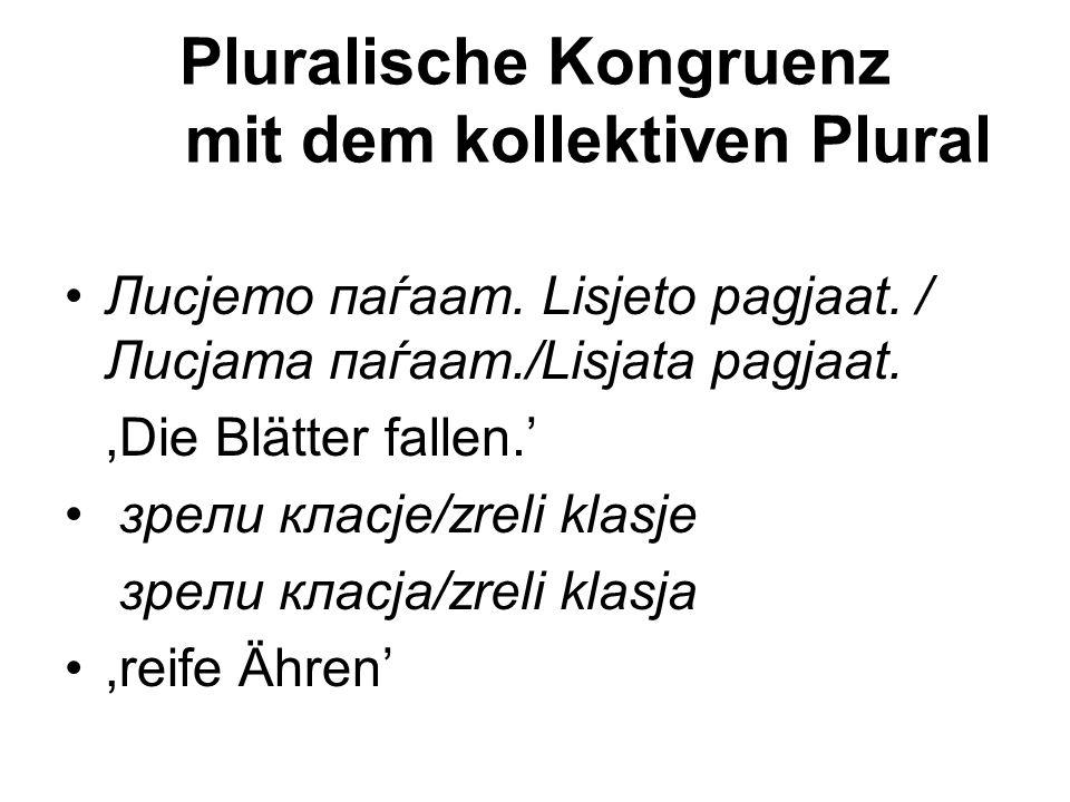 Pluralische Kongruenz mit dem kollektiven Plural
