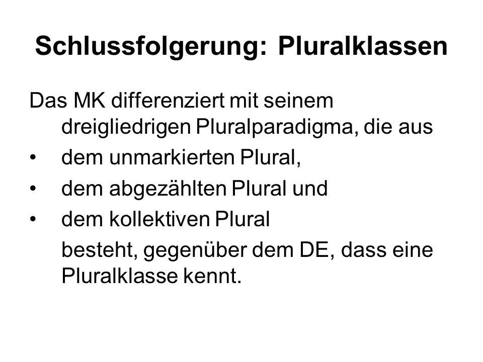 Schlussfolgerung: Pluralklassen
